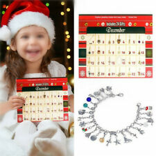 Christmas Advent Calendar DIY Bracelet Necklace Set Fashion Jewel Set Gift New