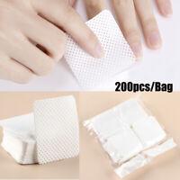 200pcs Lint-Free Meltblown Nail Wipes Cotton Pads Paper Manicure Polish Remover~