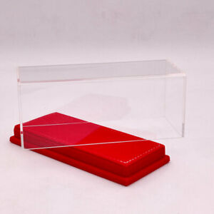 1:43 17cm Models Acrylic Case Display Boxes Transparent Red Flannel Base Thicken
