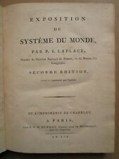 LAPLACE : EXPOSITION DU SYSTEME DU MONDE, 1799 (Astronomie / mathématiques)
