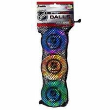 Franklin Sports Extreme Color Street Hockey Ball - Nhl - High Density - 3 Pack -