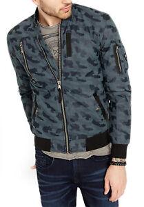 Buffalo David Bitton Men's Pale Charcoal Jagona Bomber Jacket Sz XXL $139 NEW