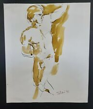 """""""Male Nude Study IV"""" (Pen and Ink) by Richard Taddei 1992"""