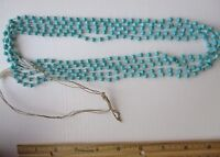 Vintage Southwest Necklace multi strand Aqua Faux Turquoise Native American