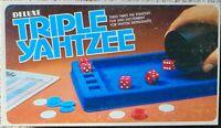 Vintage 1978 Deluxe Triple Yahtzee - E S Lowe game complete parts factory sealed