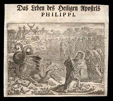 HL.PHILIPPI APOSTELS.  Kupferstich  17.Jh.