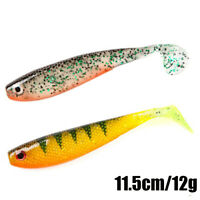T Tail 11.5cm 12g  Artificial  Silicone Swimbait Soft Bait Worm Fishing Lures