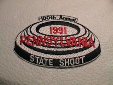 PENNSYLVANIA 1991 STATE SHOOT GUN CLUB SKEET TRAP CLAY GUN HUNTING PATCH NEW