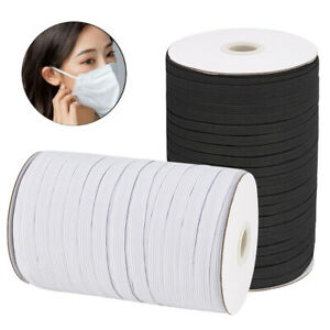 """1/4"""" Inch Heavy Elastic Band Cord Sewing Trim for DIY Face Mask 10-130 Yards"""