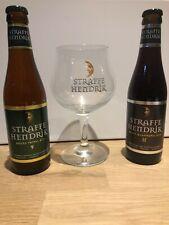 STRAFFE HENDRIK TRIPEL 9% 33cl, QUADRUPEL 11% 33cl PLUS GLASS BELGIUM BEER