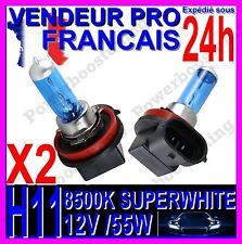 KIT DE 2AMPOULE H11 55W LAMPE HALOGENE FEU PHARE XENON GAZ SUPER WHITE 8500K 12V