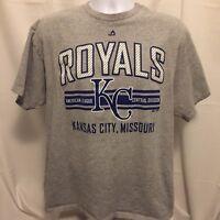 Majestic Kansas City Royals Mens T-Shirt Sz XL Gray Baseball MLB