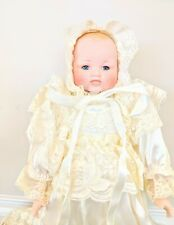 Vintage Authentic Joiner Bisque Babydoll Christening Gown Lifelike Great Gift