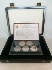 More details for jubilees of queen elizabeth ii commemorative crown set 261/500 boxed