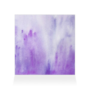 Home Decor Wall Sign Purple and White Watercolor Style D Art Picture Frame