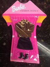 Lot Of New Mattel Barbie Clothing Leather Style Jacket Fashion AV. Skirt Shoes