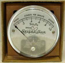 Steampunk Radac Geiger Gun Counts Per Minute X10000 Gauge Meter Vintage