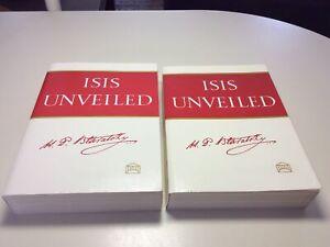 1976 Blavatsky ISIS UNVEILED 2 Volume Set Unabridged