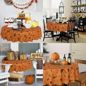 Fitable Halloween Tablecloth Pumpkin and 60r, Black Orange