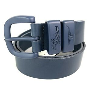 """RM Williams Drover 1 1/2"""" Blue Cowhide Leather Belt Size 36 Made In Australia"""