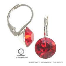 Orecchini con Swarovski Elements, colore: Giacinto, Rosso, Flame