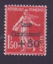 """FRANCE N°277 """" C.A. + 50c S. 1F50 ROUGE """" NEUF xx SUP"""
