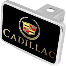 New Cadillac Gold Logo/Word Tow Hitch Cover Plug