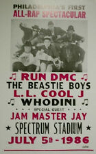 "Run DMC Concert Poster 1986 w/ Beastie Boys L.L. Cool J - Philly All-Rap 14""x22"""