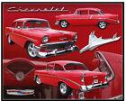 Vintage Replica Tin Metal Sign Chevy Chevrolet Emblem Car 1956 Gm Parts 98313