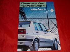 """VW Jetta """"Court"""" Sondermodell Prospekt von 1987"""