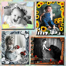 Digital Photography Backdrops Backgrounds Photoshop Templates for Children 1E