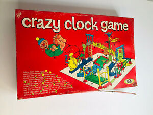 1964 Vintage Ideal Crazy Clock Board Game In Original Box