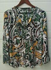 Camicia Zara fantasia floreale morbida elegante vestibilità taglia XXL