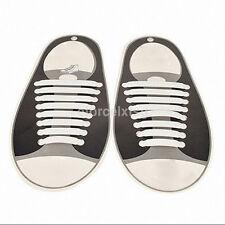 1 Set(16pcs)New No Tie Shoelaces Elastic Silicone Shoe Lace Sporting Hot Sale