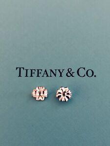 "NEW TIFFANY & CO. Sterling Silver Flower ""Push Backs"" for Earrings - 1 PAIR"