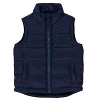 MOTHERCARE Boys Baby Gilet Navy Blue Padded Zipped Warm Bodywarmer Jacket NEW