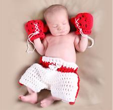 Boxer Cute Newborn Baby Girl Boy Crochet Knit Costume Photo Photography Prop