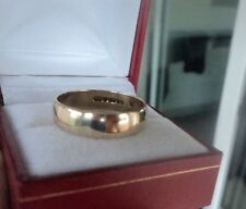 9ct Yellow Gold Wedding Band Ring h/m 1980  - maker H. Samuel  -  size U / V
