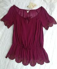 Monsoon Ladies Purple Carly Beaded Tunic Top Size 10 BNWT £65 Cover Up Ethnic