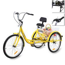 Ridgeyard 24'' 3 Wheel Adult Tricycle Basket Trike Bicycle Cruise Shimano 7speed