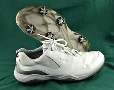 New listing Men's ECCO 'Strike' White Leather Golf Shoes Size US 8 EUR 42