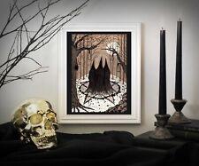 Witches Coven A5 Print - Black Salem Witch Pentagram Gothic Halloween Art Decor