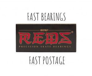 Bones Reds Bearings*Skateboard*Longboard*Skate*Scooter*Set of 8 plus sticker.