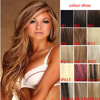 7pcs/set 100% Remy Clip In Real Human Hair Extensions Full Head
