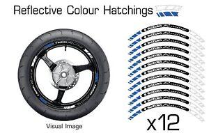 SUZUKI BLUE REFLECTIVE MOTORCYCLE WHEEL TAPE STICKERS RIM DECALS VINYL 030