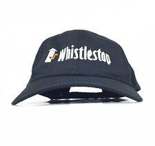 26dad405f0b7b Whistlestop Embroidered Black Baseball Cap Hat Adj Men's Size Cotton