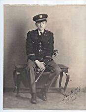 Vintage Military Photo SOLDIER SWORD UNIFORM BADGE HAT 1934 Wietzen Naiman DC
