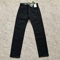 NWT Lee Men's Modern Series Extreme Motion Slim Straight Leg Jeans 2015435 Black