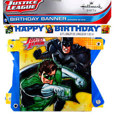 DC Comics Justice League Super Heros JOINTED BANNER Birthday Party Supplies