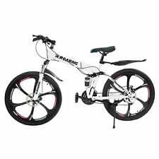 """Country Mountain Bike 21 Speed  26""""  Folding Bike Bicycle with Double Disc Brake"""